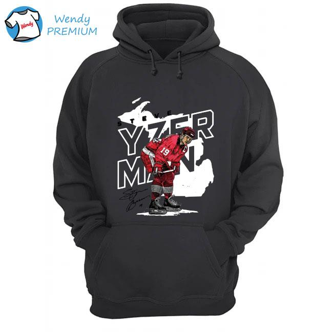 Detroit Red Wings Steve Yzerman Player Map Shirt Hoodie